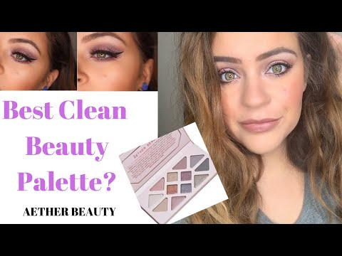 AETHER BEAUTY ROSE QUARTZ PALETTE! | Demo, Swatches + Review | CLEAN BEAUTY EYESHADOW PALETTE!