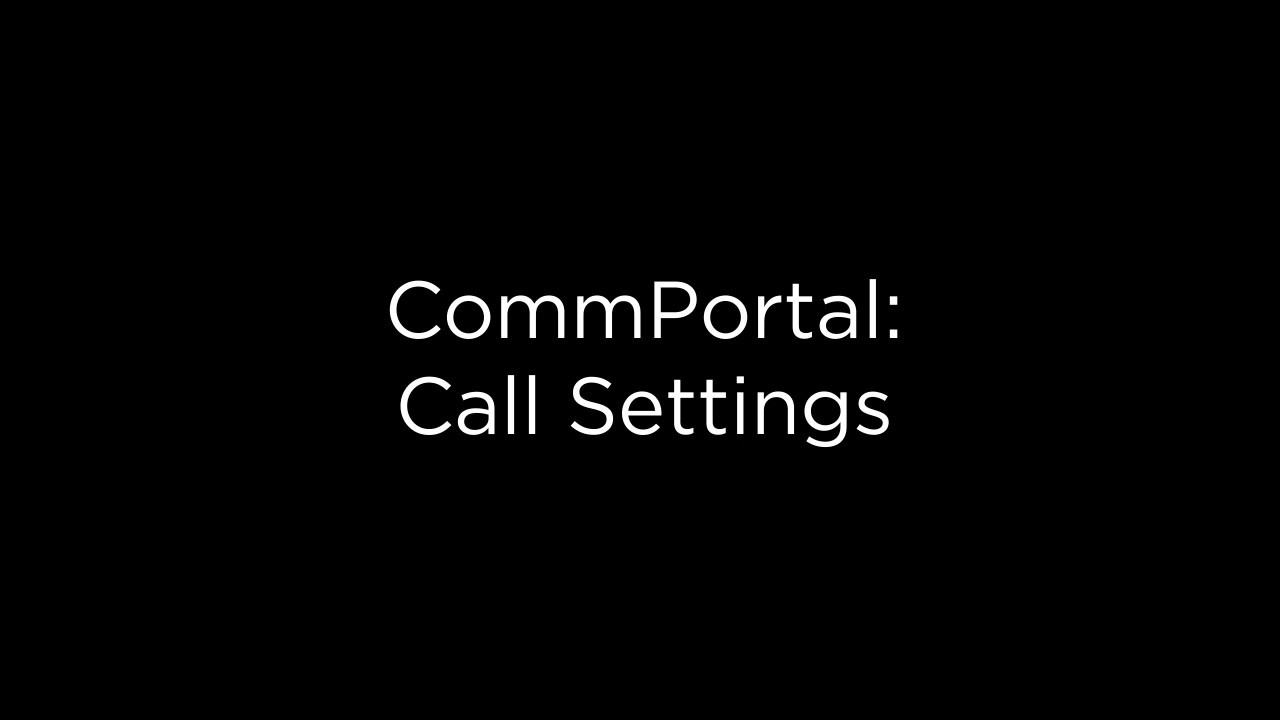 CommPortal Call Settings | Midco Hosted VoIP