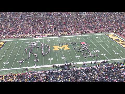 Nolan, Malone, Kullik and Tracey - The Ohio State Marching Band Put On A Great Halftime Show In Ann Arbor