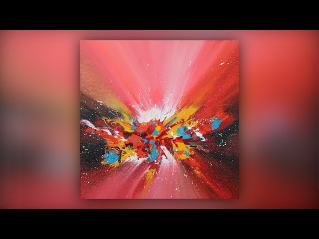 Colorful Abstract Painting / Acrylics / Palette Knife Technique / Demo #019