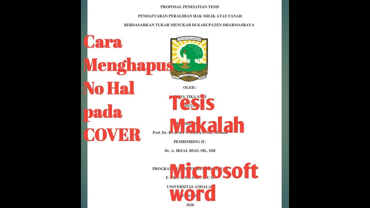 Pendidikan Hebat Cara Mudah Menghilangkan Nomor Pada Halaman Cover Makalah Skripsi Tesis Di Microsoft Word Praktis Cara Murah Mudah Di 2020 Rabab Minangkabau