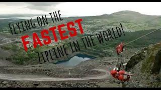FASTEST Zipline in the World! | Wales