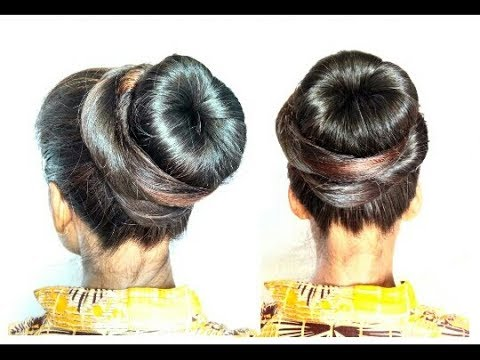 Donut Bun Hair Style Girl Juda Hairstyle For Long Hair