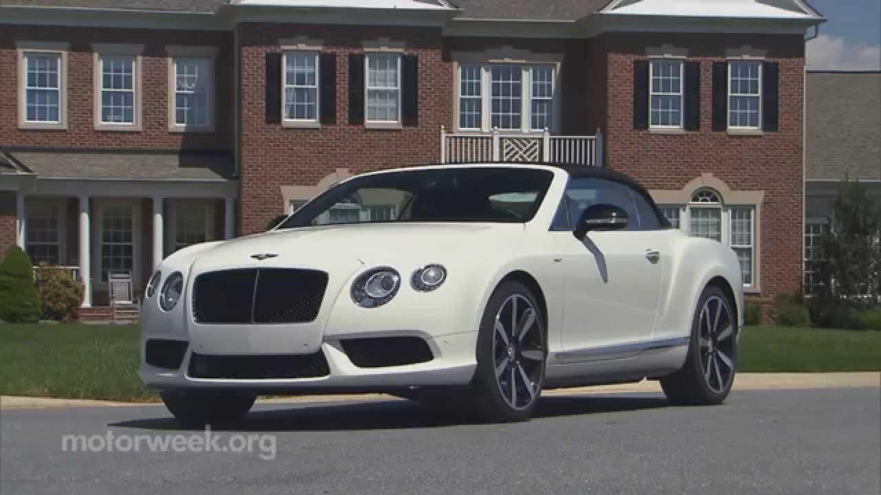 MotorWeek | Road Test: 2014 Bentley Continental GT V8 S - YouTube