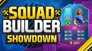 FIFA 17 SQUAD BUILDER SHOWDOWN!!! SBC DAVID LUIZ AT STRIKER!!! FUT Birthday SBC David Luiz