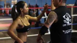 Gemmalyn Crosby & Ray Dionaldo Knife Defense -KnifeTapping Drill (Filipino Kali) (FMA) (FCS)