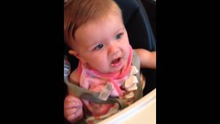 Cutest Baby Doesn't Like Her Baby Food