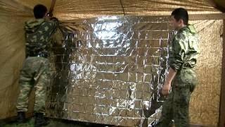 видео Палатка армейская брезентовая УСТ-56