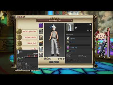 FFXIV: Fashion Report Friday - Week 14 - Theme : Fitness Anytime