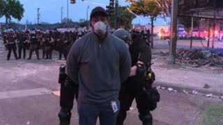 CNN Reporter Omar Jimenez ARRESTED on Live TV While Covering Minneapolis Protests
