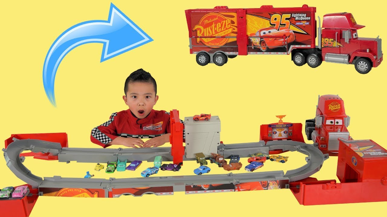 BIGGEST Super Mack Track Ever!! New Disney Cars Toys Unboxing Fun With Ckn Toys