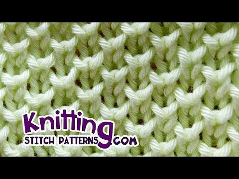 Bee Stitch Looks Like Pearl Brioche Knitting Youtube