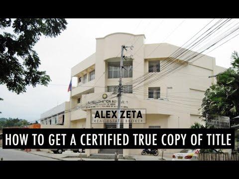 How To Get A Certified True Copy Of Title | Alex Zeta