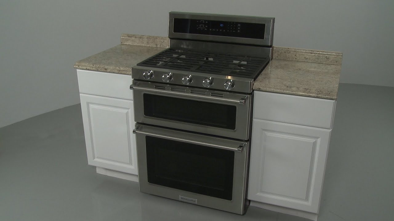 Kitchenaid Double Oven Gas Range Installation (Model #KFGD500ESS04)