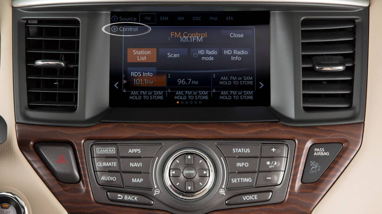 2017 NISSAN Pathfinder - Audio System with Navigation Type A (if so  equipped)