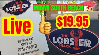 #Shorts Miami Beach ⛱ Florida Lobster Live $19.95 OMG My Trips Day 3