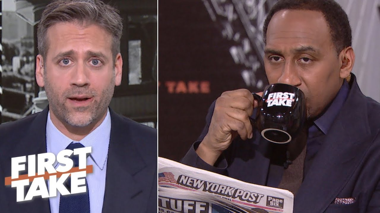 Stephen A  Smith has priceless reaction to Max Kellerman's