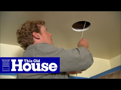 Pot Light Wiring Diagram Main Panel All About Lights How To Install Recessed This Old House Youtube