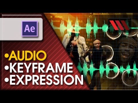 Adobe After Effects CS6 - Converting Audio to keyframes (Tutorial by VOXLAB)