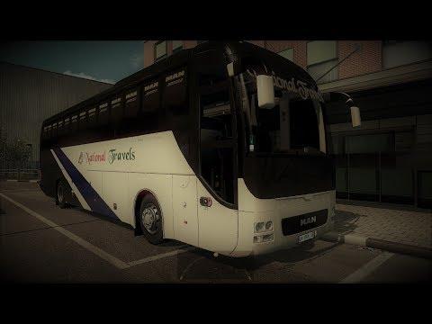 ETS2 Long Trip: Dhaka to Chapai (National Travels MAN Non AC Coach)