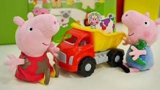 Свинка Пеппа - Мультик из игрушек. Свинки собирают пазлы