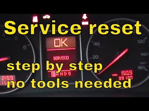 how to reset the service interval on Audi A4