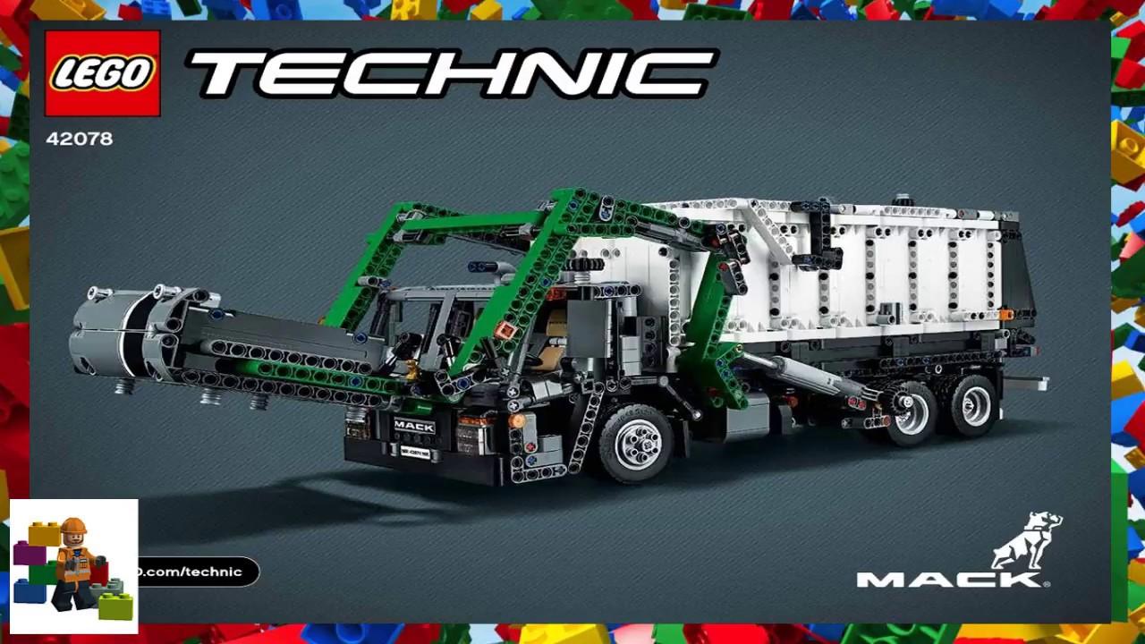 Lego Instructions Technic 42078 Mack Lr Model 2 Youtube