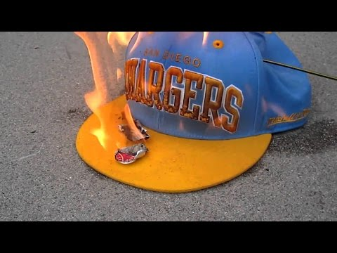 Charger fans burning thier jerseys