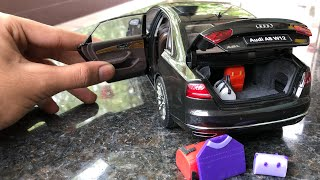 Diecast Unboxing-2010 Audi A8 W12 1/18 Diecast By Audi Collections Kyosho