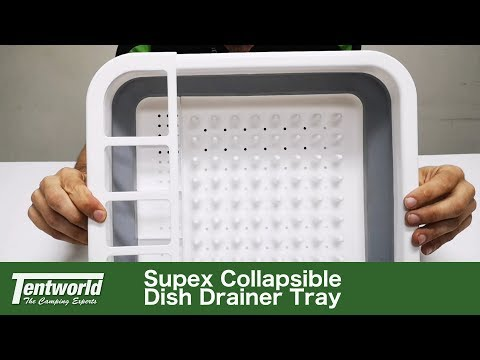 Supex Collapsible Dish Drainer Tray