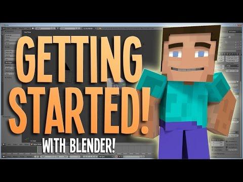 Getting Started! - Blender Minecraft Animation Tutorial   1