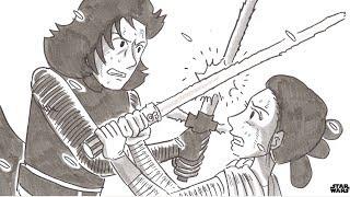鉄拳が描く「スター・ウォーズ/フォースの覚醒」パラパラ漫画が公開