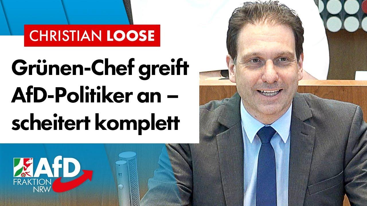 Grünen-Chef greift AfD-Politiker an und blamiert sich komplett! – Christian Loose (AfD)