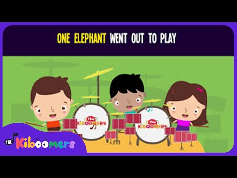 One Elephant Went Out to Play Song | Kids Song | Nursery Rhyme | The Kiboomers