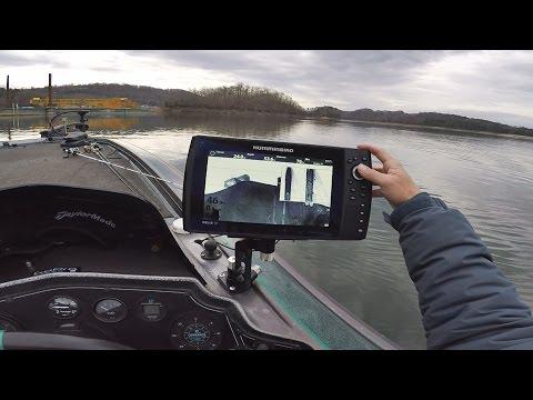 EastTNFishing: Winter Bridge Fishing with the Humminbird Helix 10 SI