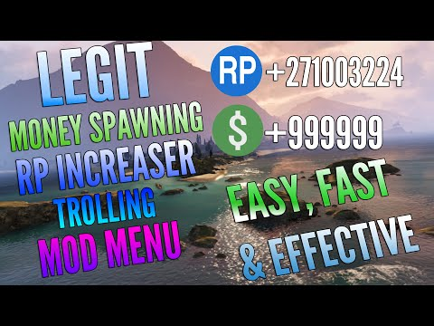 GTA 5 ONLINE PC│EASY MOD MENU │NOT BANNABLE │EASY MONEY+RP │AUGUST 2016!