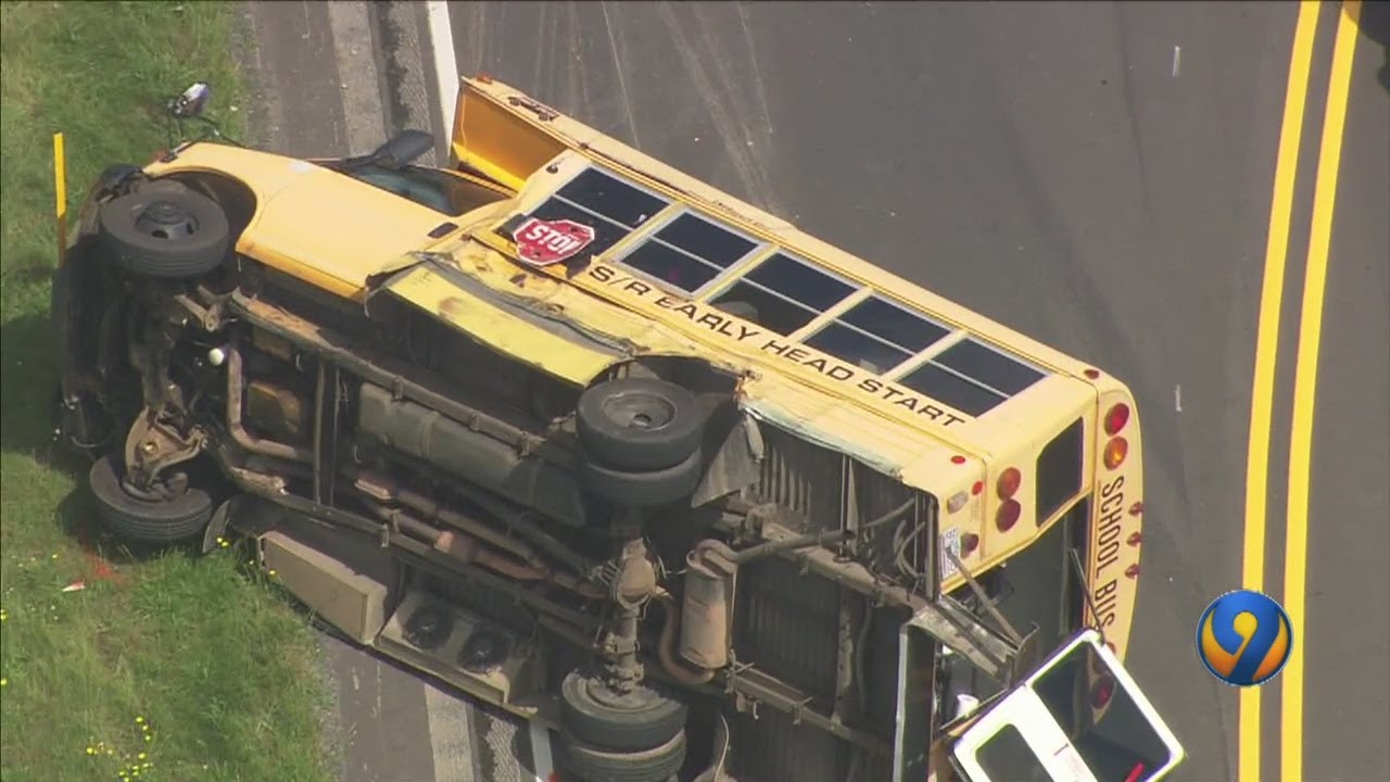 NORTH CAROLINA: BLACK PRESCHOOLERS ON HEAD START SCHOOL BUS WHEN BUS OVERTURNS