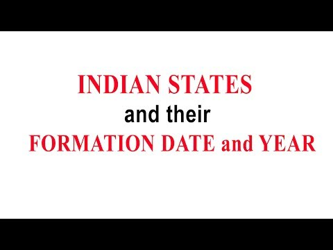 INDIAN STATES and their FORMED DATE AND YEARS|| TRICKS and EASY WAY to study