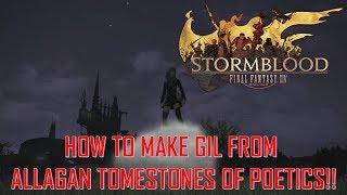 Final Fantasy XIV: Stormblood - Make GIL from Poetics! Grade 3 Thanalan Topsoil!