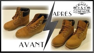 Nettoyage Timberland l Daim/Nubuck l Cirages & Compagnie