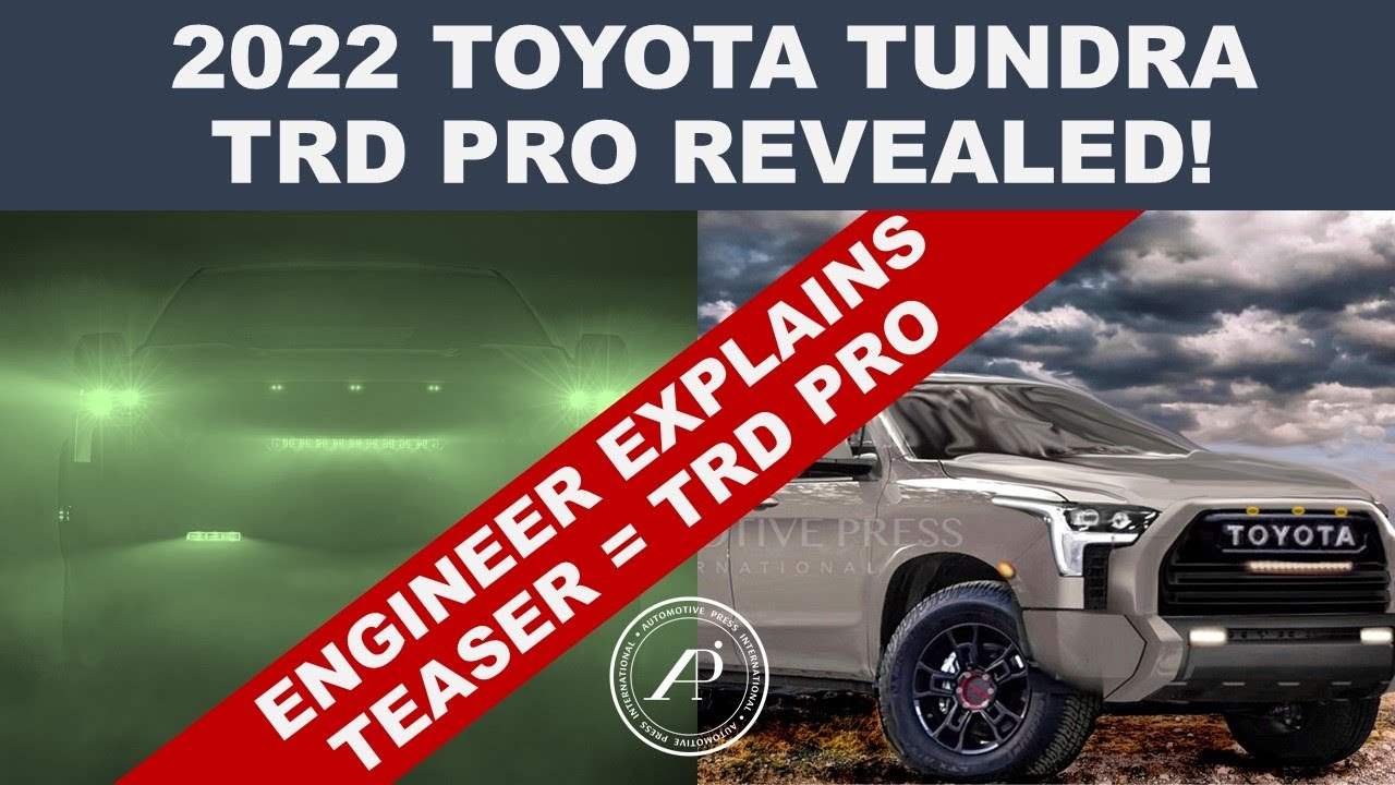 2022 TOYOTA TUNDRA TRD PRO REVEALED! - Engineer Explains TRD Pro is the Biggest Ever plus New Render