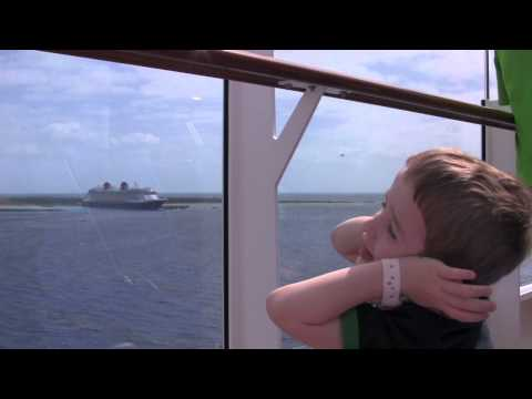 Disney Dream and Fantasy - Dueling Cruise Ships Horn Battle