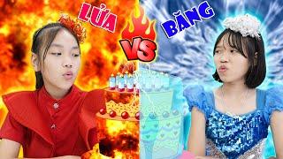 Thử Thách Nóng Lạnh | Công Chúa Lửa & Công Chúa Băng Giá ♥ Min Min TV Minh Khoa