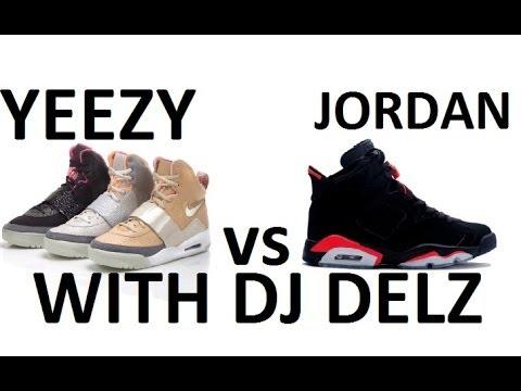 Kanye West Jumps Over The Jumpman ! (Nike VS adidas Yeezy VS Michael Air  Jordan) - YouTube