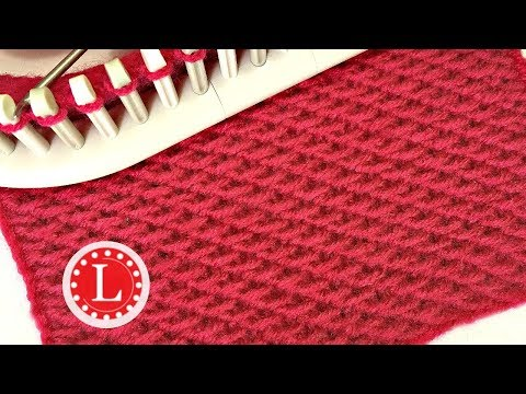 LOOM KNITTING Stitches Chinese Wave  aka Knit Loop | Slip Stitch Honeycomb | Loomahat