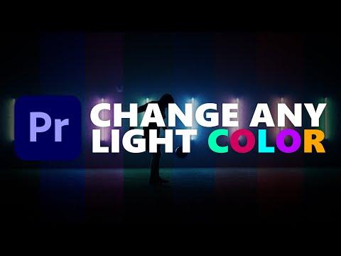 Change ANY Light COLOR | Premiere Pro