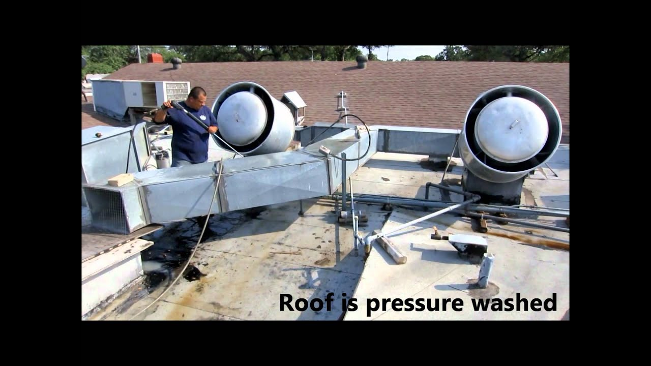 How to Pressure Wash Commercial Kitchen Exhaust Hoods, Ducts, and ... for Roof Kitchen Exhaust Fan  83fiz