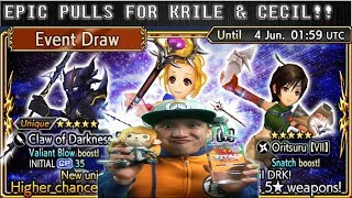 Dissidia Final Fantasy: Opera Omnia EPIC SUPER LUCKY TIPSY PULL FOR KRILE & CECIL!!!