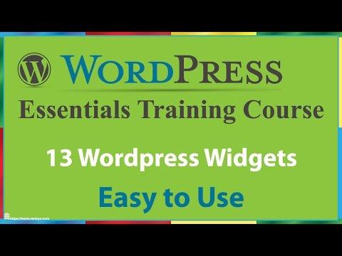 13 WordPress Widgets - 동영상