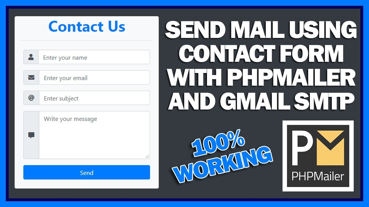 Send Mail Using Contact Form With PHPMailer and Gmail SMTP On Live Hosting Server